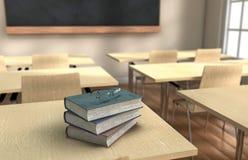 Klassenzimmerbücher stockfoto