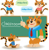 Klassenzimmerlehrer stock abbildung