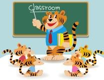 Klassenzimmerlehrer vektor abbildung