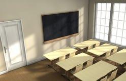 Klassenzimmerschreibtische Stockfotos