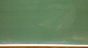 Klassenzimmertafel Stockbild