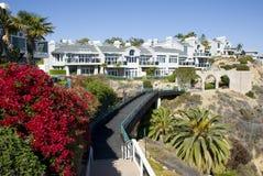 Klassiek Amerikaans huis in Dana Point - Oranje Provincie, Californië Royalty-vrije Stock Afbeelding