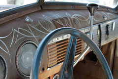 Klassiek Amerikaans vrachtwagenbinnenland Stock Foto