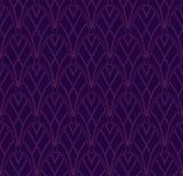 Klassiek Art Deco Seamless Pattern Geometrisch modieus ornament Vector antieke textuur stock illustratie