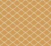Klassiek Art Deco Seamless Pattern Geometrisch modieus ornament Vector antieke textuur royalty-vrije illustratie