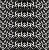 Klassiek Art Deco Seamless Pattern Geometrische modieuze textuur Abstracte Retro Vectortextuur royalty-vrije illustratie