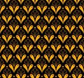 Klassiek Art Deco Seamless Pattern Geometrische modieuze textuur Abstracte Retro Vectortextuur Royalty-vrije Illustratie