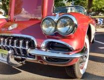 Klassiek Auto Rood Korvet Royalty-vrije Stock Afbeelding