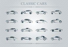 Klassiek auto'sembleem royalty-vrije illustratie