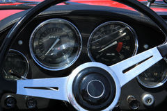 Klassiek autodashboard Royalty-vrije Stock Foto's