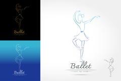 Klassiek balletembleem Royalty-vrije Stock Afbeelding