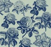 Klassiek behang met een bloempatroon. Stock Foto