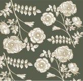 Klassiek behang met een bloempatroon. Royalty-vrije Stock Foto's