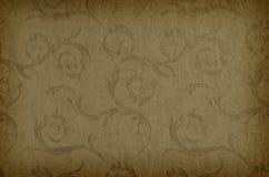 Klassiek behang naadloos uitstekend patroon op bruine achtergrond Stock Afbeeldingen