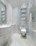Klassiek binnenlands toilet Stock Foto