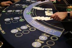 Klassiek blackjackspel in een casino Stock Fotografie