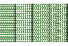 4 klassiek bladpatroon Royalty-vrije Stock Afbeelding