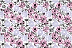 Klassiek Bloemen Leuk Bloemen naadloos patroon royalty-vrije stock afbeelding