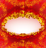 Klassiek bloemenframe vector illustratie