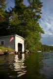 Klassiek botenhuis Stock Foto