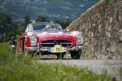 Klassiek cars_2014_Daimler Benz 300SL Zuid- van Tirol Stock Afbeelding