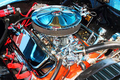 Klassiek Chevy Motor stock foto