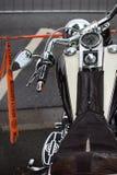 Klassiek Chroom Harley royalty-vrije stock foto's