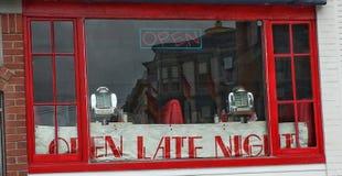Klassiek diner van San Francisco venster Stock Afbeeldingen