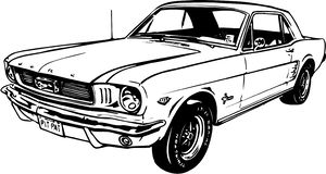 Klassiek Ford Mustang Illustration royalty-vrije illustratie