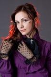 Klassiek gotisch meisjesportret Stock Afbeeldingen