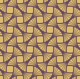 Klassiek Gouden Art Deco Seamless Pattern Geometrische modieuze textuur Abstracte Retro Vectortextuur Vector Illustratie