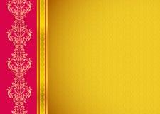 Klassiek Gouden Behang Stock Afbeeldingen