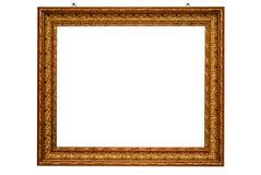 Klassiek gouden frame dat met het knippen van weg wordt geïsoleerd Stock Fotografie