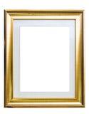 Klassiek gouden frame dat op wit wordt geïsoleerdh Stock Foto's