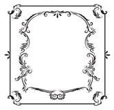 Klassiek hand getrokken zwart-wit kader Royalty-vrije Stock Foto's