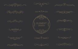 Klassiek het elementen uitstekend vectorontwerp van de premiebar Stock Fotografie
