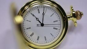 Klassiek horlogeclose-up stock videobeelden
