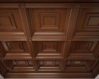 Klassiek houten caissonplafond Royalty-vrije Stock Foto's