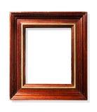Klassiek houten frame dat op wit wordt geïsoleerdh Stock Afbeeldingen