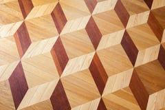 Klassiek houten parket met kubussenpatroon Royalty-vrije Stock Foto
