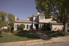 Klassiek Huis op het Schiereiland van het zuiden van Californië van San Francisco. Stock Afbeeldingen