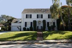 Klassiek Huis op het Schiereiland van het zuiden van Californië van San Francisco. Stock Fotografie