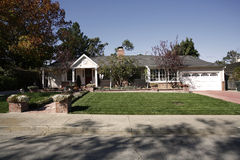 Klassiek Huis op het Schiereiland van het zuiden van Californië van San Francisco. Royalty-vrije Stock Afbeelding