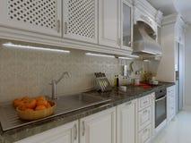 Klassiek keukenbinnenland stock fotografie