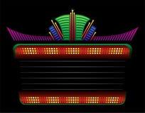 Klassiek kleurrijk neon Stock Foto