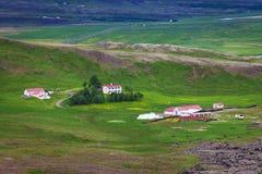 Klassiek landbouwbedrijf op IJsland royalty-vrije stock foto