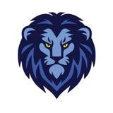 Klassiek Lion Head Logo Vector Illustration Stock Fotografie