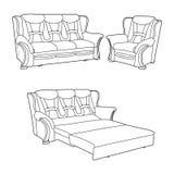Klassiek meubilair Stock Illustratie