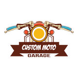 Klassiek motorfietsembleem Stock Foto's