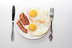 Klassiek ontbijt royalty-vrije stock afbeeldingen
